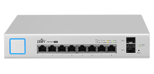 Ubiquiti UniFi Switch 8-150W (модель US-8-150W)