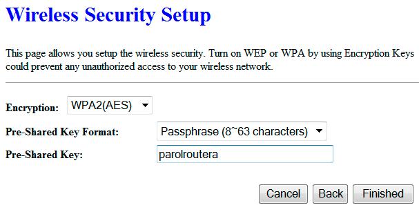 Настройка пароля на Wi-Fi