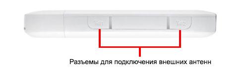 Разъемы для подключения внешних антенн в Huawei E8372