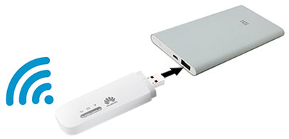 Использование Huawei E8372 с Power Bank