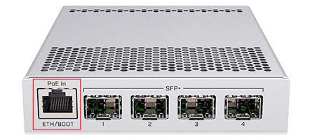 Сетевые порты MikroTik CRS305-1G-4S+IN
