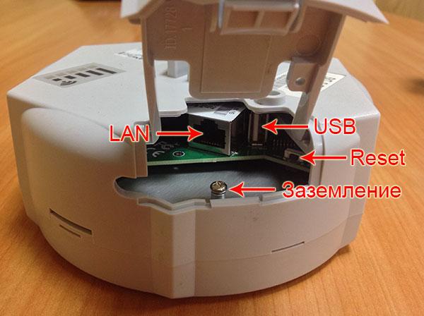 Порты MikroTik SXT 5 ac (модель RBSXTG-5HPacD)