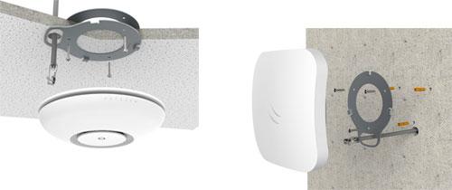 Монтаж MikroTik cAP ac на потолок и стену