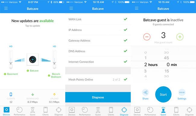 Настройка Wi-Fi роутера Amplifi через мобильное приложение
