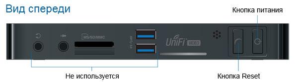 Передняя панель Ubiquiti UniFi NVR