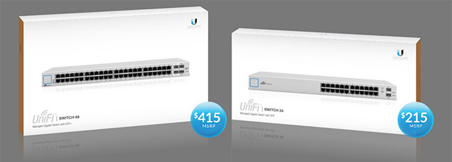 Цена на UniFi Switch 24 и UniFi Switch 48