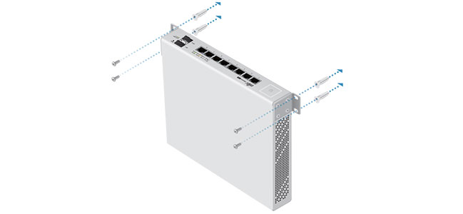Установка Ubiquiti UniFi Switch 8-150W на стену