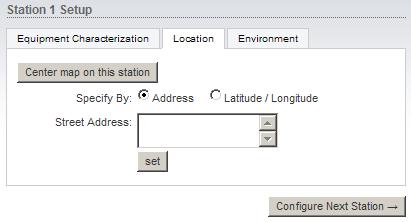 Параметры расположения Wi-Fi точки доступа Ubiquiti