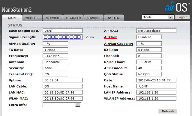 AirMax на NanoStation2