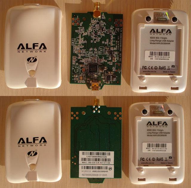 Оригинальный адаптер Alfa Network AWUS036NHR