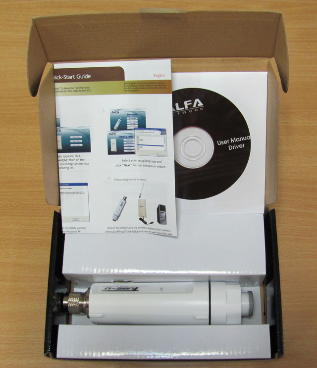 Содержимое коробки Alfa Tube-U (G)