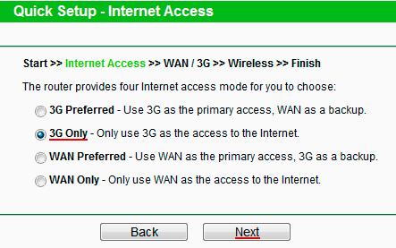 Выбираем подключение к интернет только через 3G модем