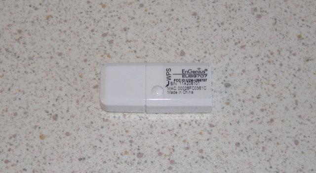 Кнопка WPS на адаптере EnGenius EUB9707
