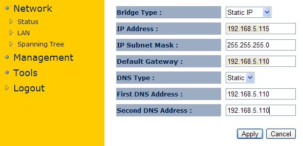 Настройка LAN порта EnGenius EAP150