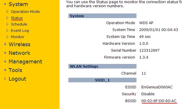 MAC адрес EnGenius EAP150