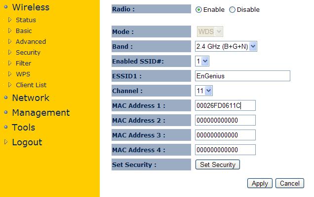 Настройка Wi-Fi точки Engenius EAP150 в режиме WDS репитер