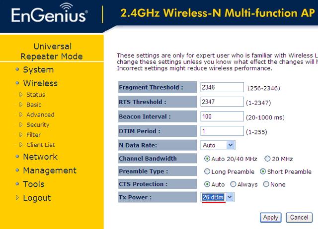 <br><span> <br><span>Настройка Wi-Fi точки EnGenius EAP300 в режиме повторителя</span> <br></span> <br>