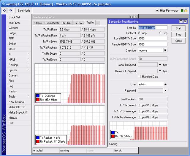 Определение скорости передачи EnGenius ENH202