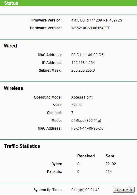 доступа Tp-Link TL-WA5210G