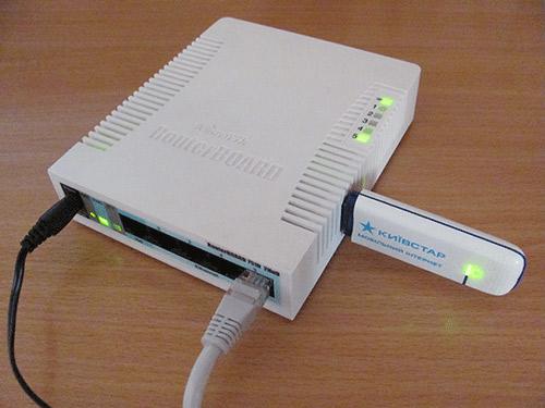 MikroTik с подсключенным 3G модемом