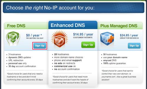 Free DNS - No-IP