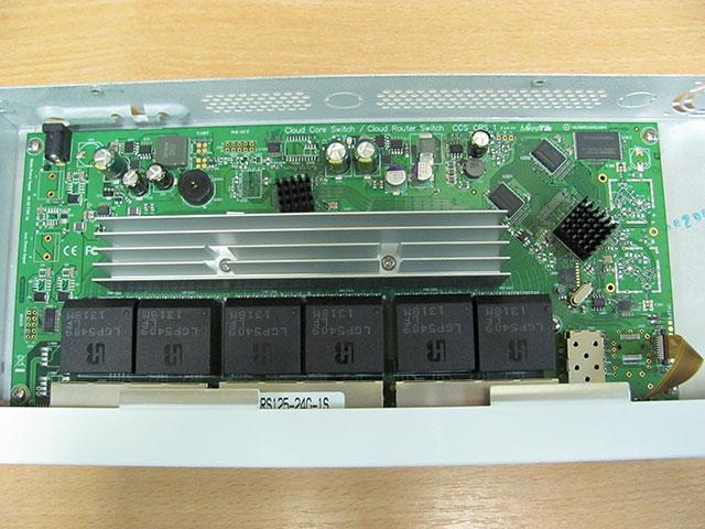 Пассивное охлаждение MikroTik CRS125-24G-1S-RM