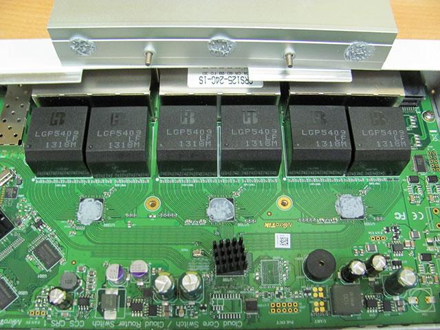Чипы портов коммутатора MikroTik CRS125-24G-1S-RM