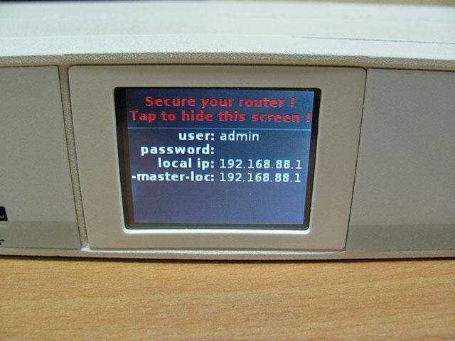 Сенсорный экран MikroTik CRS125-24G-1S-RM