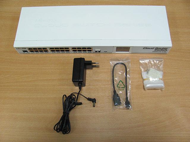 Комплектация MikroTik CRS125-24G-1S-RM