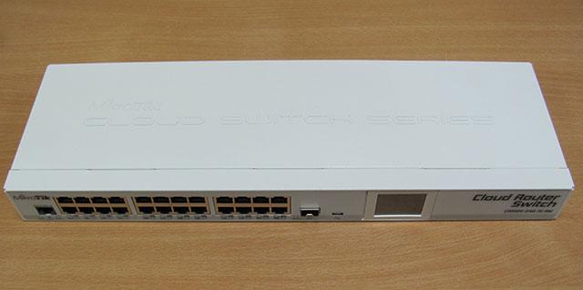 MikroTik CRS125-24G-1S-RM - вид спереди