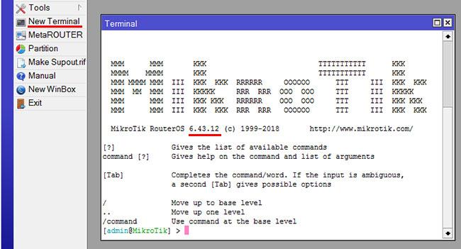 Проверка версии MikroTik RouterOS