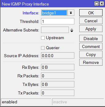MikroTik - Настройка исходящих портов IPTV