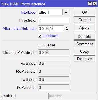 MikroTik - Настройка входящего WAN порта IPTV