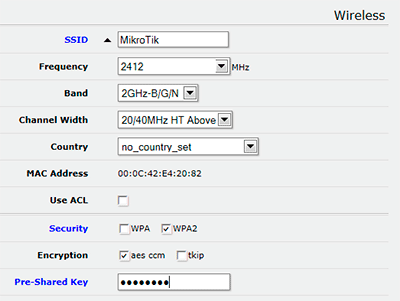 MikroTik QuickSet - Настройка Wi-Fi точки доступа
