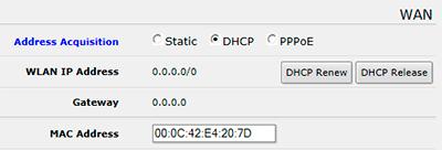 MikroTik QuickSet - настройка динамических сетевых параметров