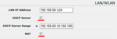 MikroTik QuickSet - Настройка DHCP и NAT