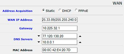 MikroTik QuickSet - Настройка статических сетевых параметров