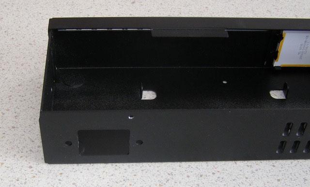 Выламываем в корпусе MikroTik отверстие под разъем IEC C14