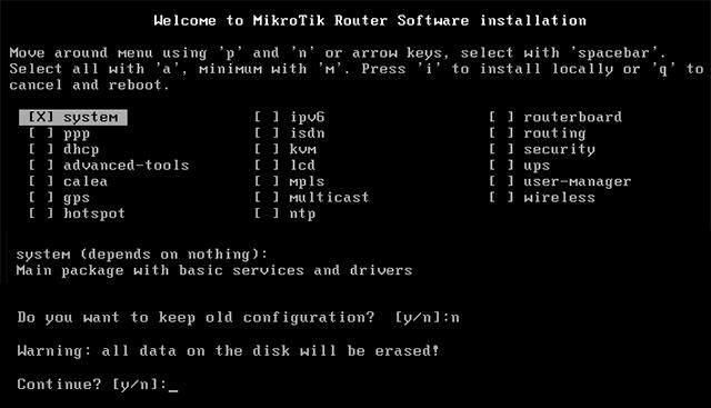 Сброс пароля RouterOS на компьютере