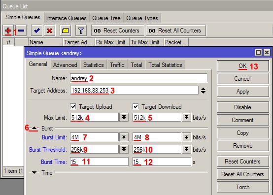MikroTik - Ограничение скорости для