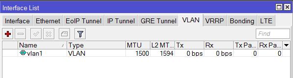 Интерфейс VLAN в MikroTik