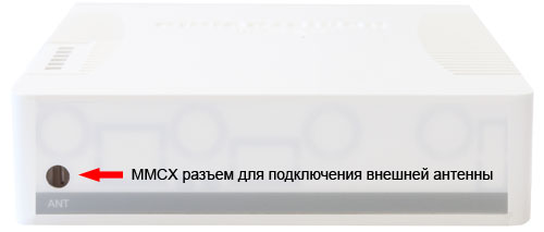 Разъем для подключения внешней антенны к MikroTik RB751