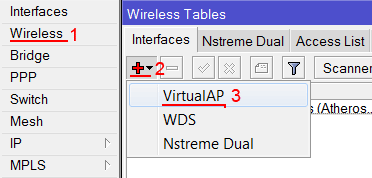 Cоздать виртуальную Wi-Fi  сеть MikroTik
