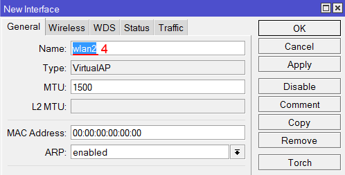 Имя виртуального интерфейса MikroTik