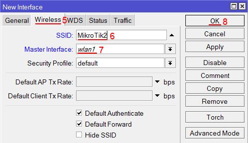 Настройка виртуальной Wi-Fi точки MikroTik