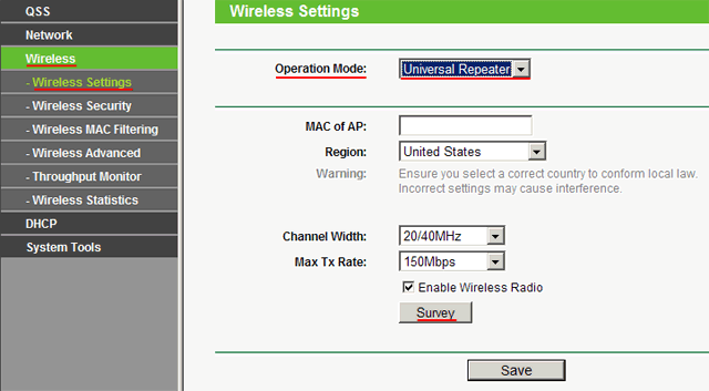 Режим Universal Repeater в точке доступа Tp-Link