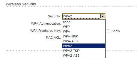 Выбор типа шифрования