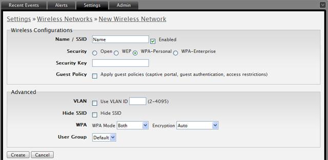 Настройка виртуальной точки доступа UniFi