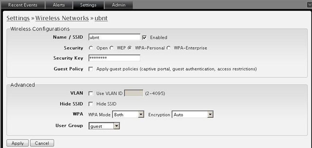 Привязка группы пользователей к Wi-Fi сети UniFi
