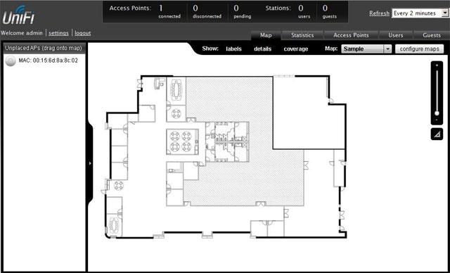 Масштабирование плана помещения